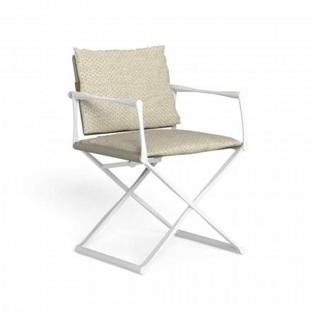 Chaise de directeur pliante d'extérieur avec accoudoirs de luxe - Riviera by Talenti