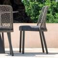 Chaise d'extérieur en tissu et aluminium de design Varaschin Emma