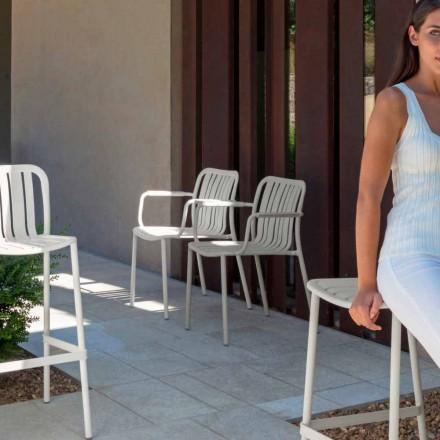 Trocadero Talenti chaise de jardin avec accoudoirs en aluminium