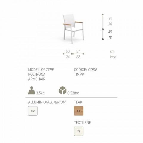 Chaise de jardin au design moderne Timber by Talenti