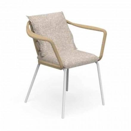 Chaise de jardin design moderne en aluminium et tissu - Cruise Alu Talenti