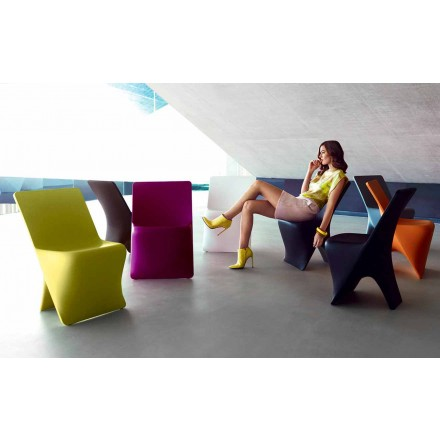 Chaise de jardin Sloo de Vondom, design moderne en polyéthylène