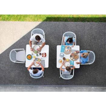 Chaise de jardin empilable en aluminium et tissu technique - Smart By Varaschin