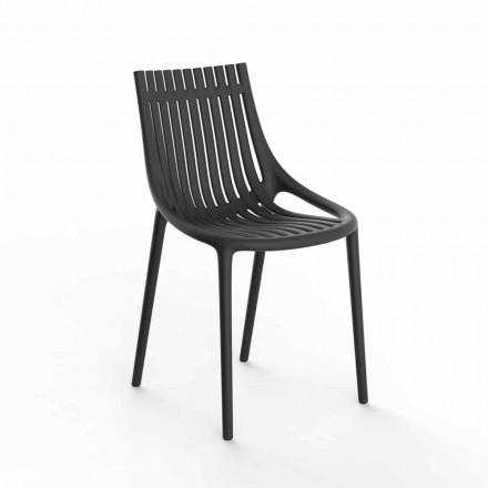 Chaise de jardin empilable en plastique coloré 4 pièces - Ibiza - Vondom