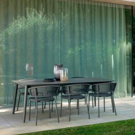 Chaise de jardin Moon Alu Talenti en aluminium et corde synthétique