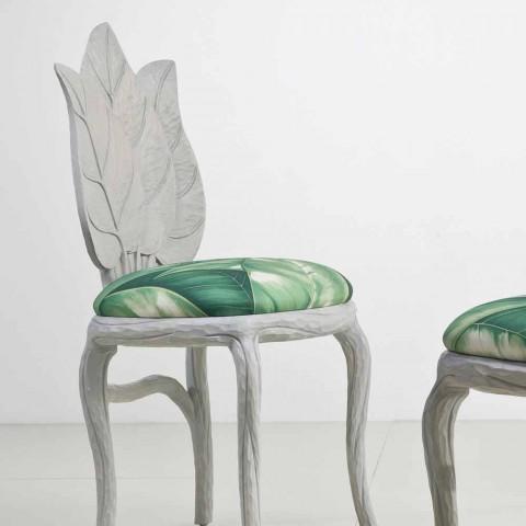 Chaise de design moderne déjeuner rembourré, fabriqué en Italie, Daniel