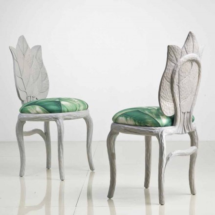 Chaise du diner rembourrée design moderne, produit en Italie, Daniel