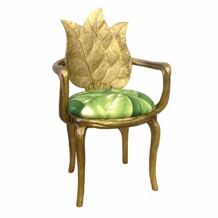 Chaise du diner rembourrée doré design moderne produit italien Daniel
