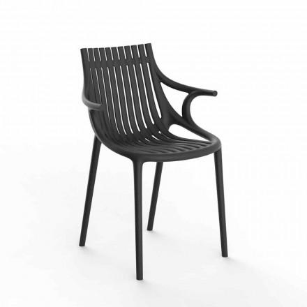 Chaise de salle à manger d'extérieur 4 pièces en polypropylène empilable - Ibiza par Vondom