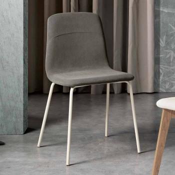 Chaise de salon moderne en tissu et métal fabriqué en Italie, Egizia