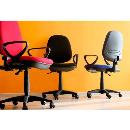 Chaise de Bureau Ergonomique Pivotante Avec Accoudoirs en Tissu – Concetta