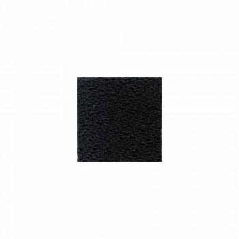 Chaise de bureau ergonomique pivotante avec accoudoirs en tissu noir - Macrino