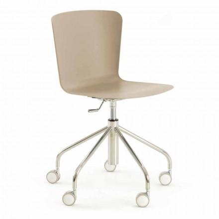 Chaise de bureau en polypropylène avec base chromée Made in Italy - Plutonio