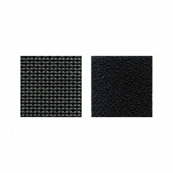 Chaise de bureau semi-directionnelle en tissu Tecnorete et noir - Vespasiano