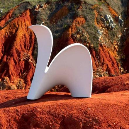 Chaise design pour intérieur ou extérieur en plastique coloré 2 pièces - Lily par Myyour