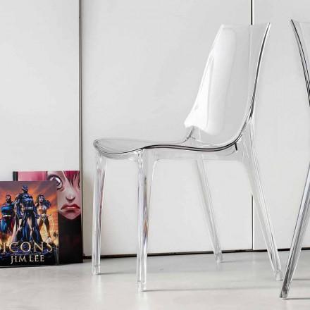 Chaise Design Moderne, Complètement en Polycarbonate – Gilda