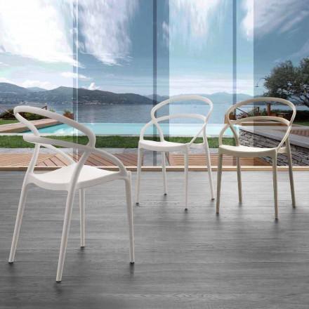 Chaise en polypropylène Pavia, plusieurs couleurs disponibles