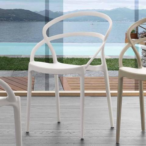Chaise design moderne en polypropylène fabriquée en Italie Pavia