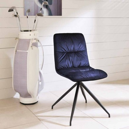 Chaise de design moderne recouverte en tissu Chiara