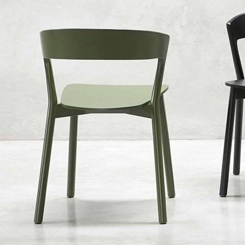 Chaise de haute qualité en bois de frêne Made in Italy, 2 pièces - Oslo