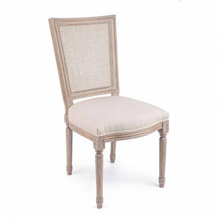 Chaise design classique avec structure en bois 2 pièces Homemotion - Murea