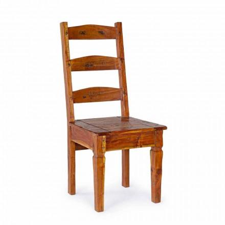 Chaise design classique en bois d'acacia massif Homemotion - Moritz
