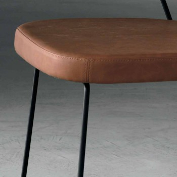 Chaise design en métal et tissu produite en Italie Formia