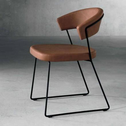 Chaise design en textile et métal made in Italy, Formia