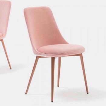 Chaise design en tissu et métal Made in Italy - Itala