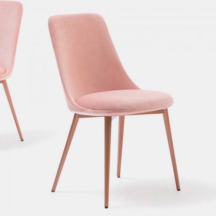 Chaise de design en Tissu et en Métal Made in Italy – Itala