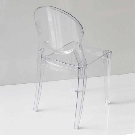 Chaise de Design Moderne en Polycarbonate, 2 Couleurs – Dalila