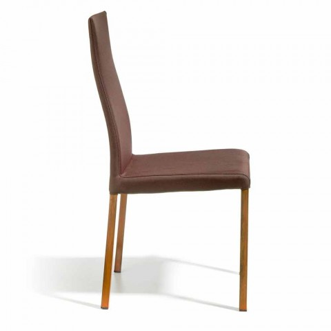 Chaise design recouverte en tissu Amalia, H96 cm, fabriqué en Italie