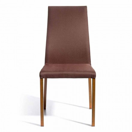 Chaise de design revêtue en tissu Amalia, H.96 cm, faite en italie