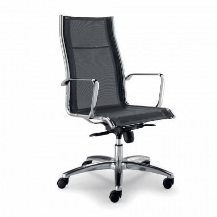 Chaise directionelle design produite en Italie monotoile réseau Agata