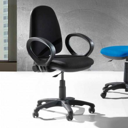 Chaise Ergonomique de Bureau Pivotante Moderne en Similicuir ou Tissu – Calogera