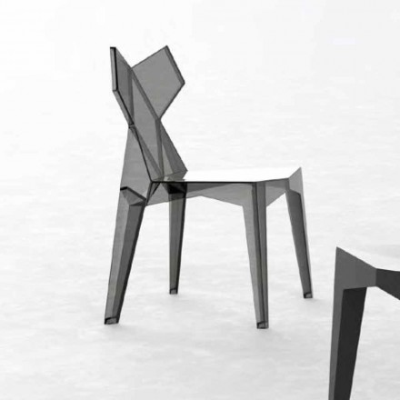 Chaise design empilable d'extérieur en polycarbonate, 4 pièces - Kimono par Vondom