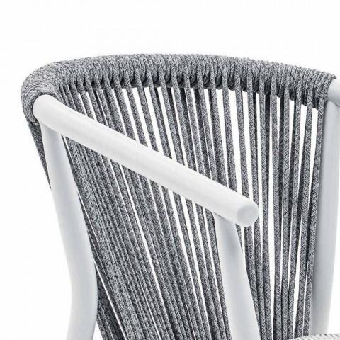 Chaise d'extérieur empilable avec accoudoirs rembourrés H 73 cm - Smart by Varaschin