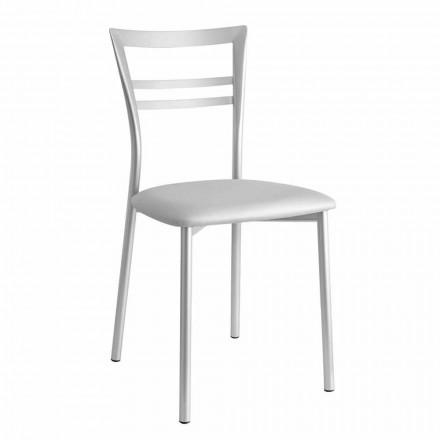 Chaise de cuisine rembourrée au design moderne Made in Italy, 2 pièces - Aller
