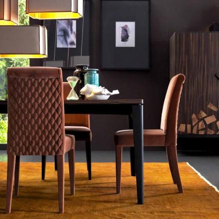 Chaise living rembourrée Grilli Zarafa fabriquée en Italie, 2 pièces