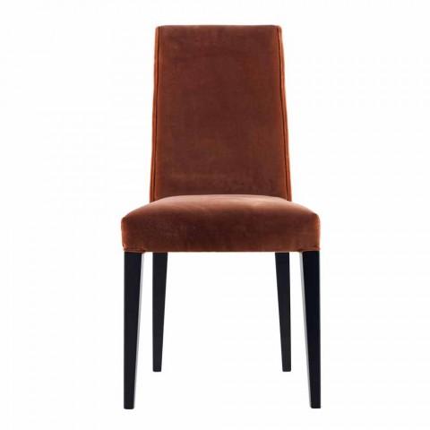 Chaise de salon rembourrée en bois massif Grilli Zarafa made in Italy