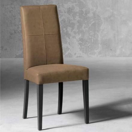 Chaise moderne doublée en bois de hêtre fabriquée en Italie, Ponza