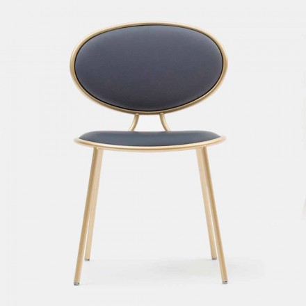 Chaise pour Salle à manger Moderne en Cuir Made in Italy – Otto