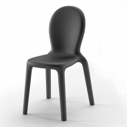 Chaise empilable en polyéthylène coloré Made in Italy, 2 pièces - Jamala