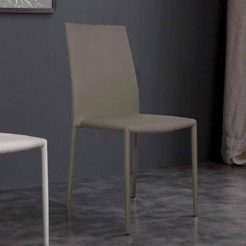 Chaise en similicuir de conception moderne fabriquée en Italie Desio