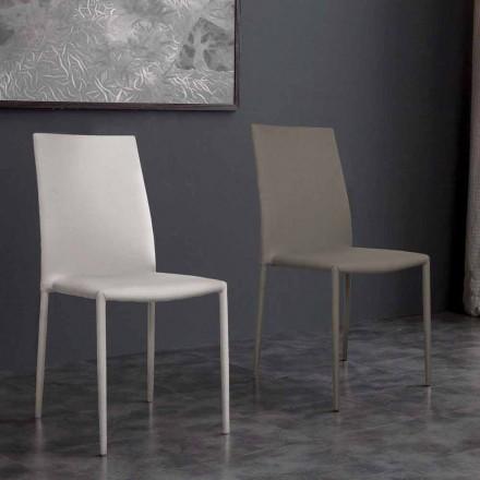 Chaise en simili cuir de design Desio, de cuisine et salle à manger