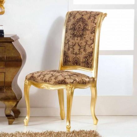 Chaise en bois de design classique en feuille d'or, Bellini
