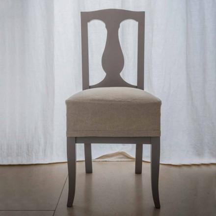 Chaise en hêtre laqué hêtre fabriqué en Italie, Kimberly, 2 pièces