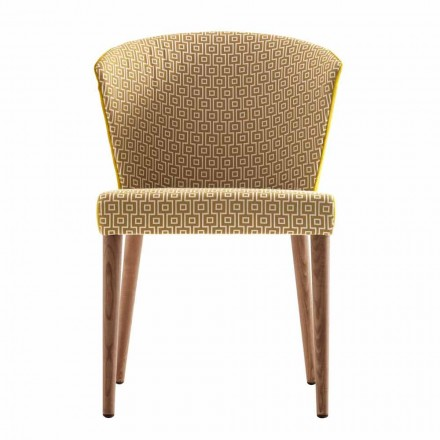 Chaise de design en bois massif moderne Grilli York made in Italy