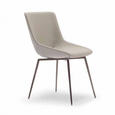 Chaise en Cuir de Salle à manger Made in Italy – Bonaldo Artika