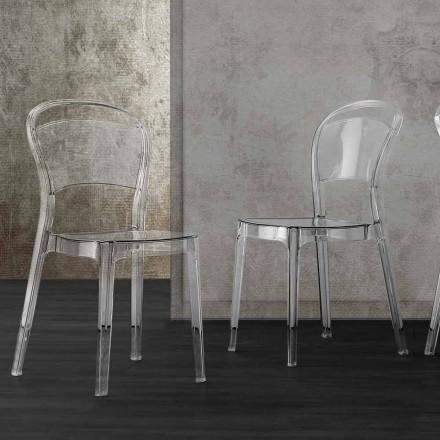 Chaise en Polycarbonate Transparent, Design Moderne – Yanis